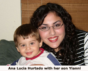 Ana Lucia Hurtado with her son Yianni