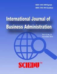 logo for International Journal of Business Administration